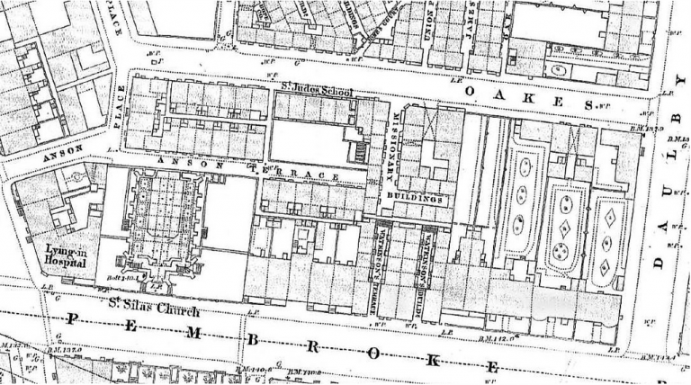 Map of Pembroke Place, Liverpool
