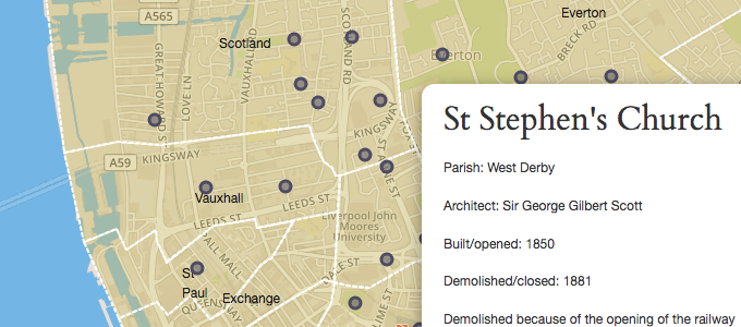 Historic Parishes map screenshot