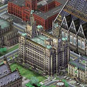 Screenshot from SimCity 3000 showing Liver Building