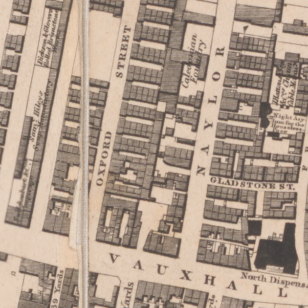 Extract from Gage's 1836 map of Liverpool