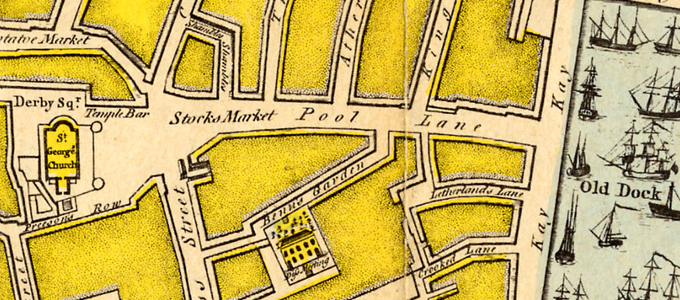 1768: John Eyes' Plan of Liverpool