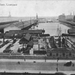 Photograph of Prince's Dock, Liverpool, looking north