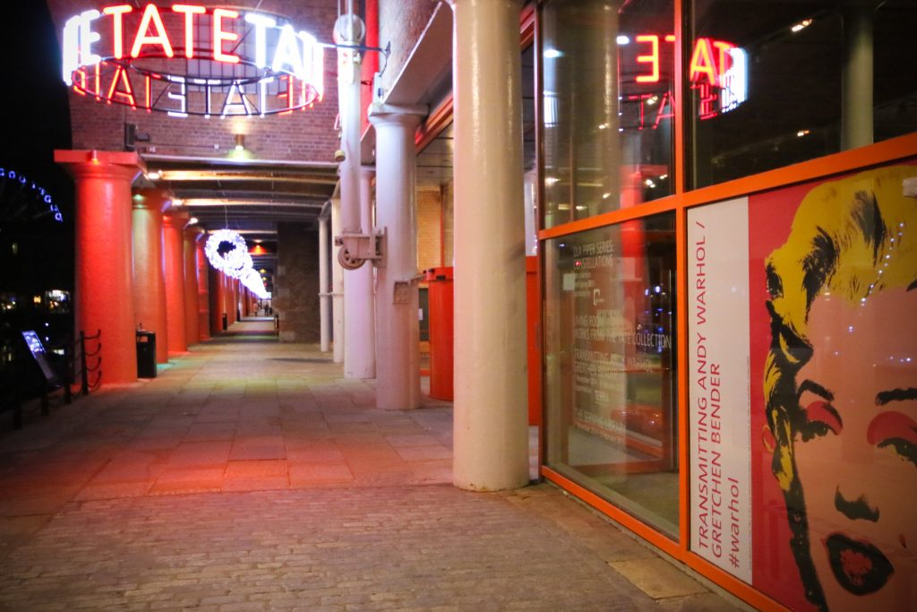 Photo of the front of Tate Liverpool, an art gallery
