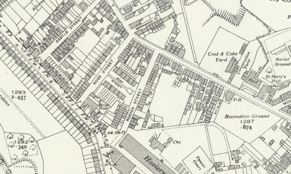 Ordnance Survey map of Woolton, showing dense labourers housing