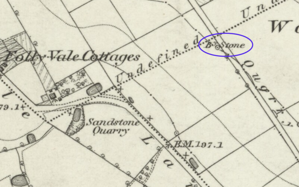 Ordnance survey map of Woolton, from the late 19th century